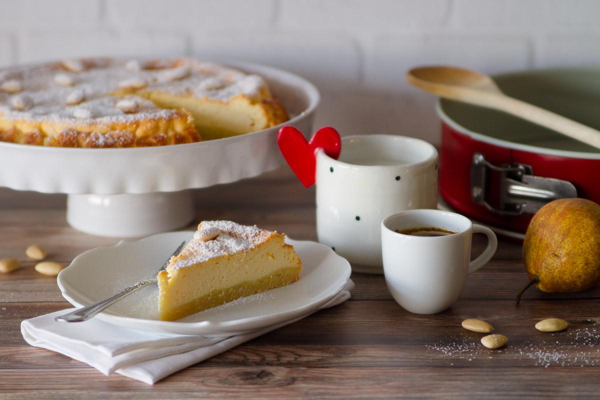 Cheesecake al forno con ricotta e mandorle