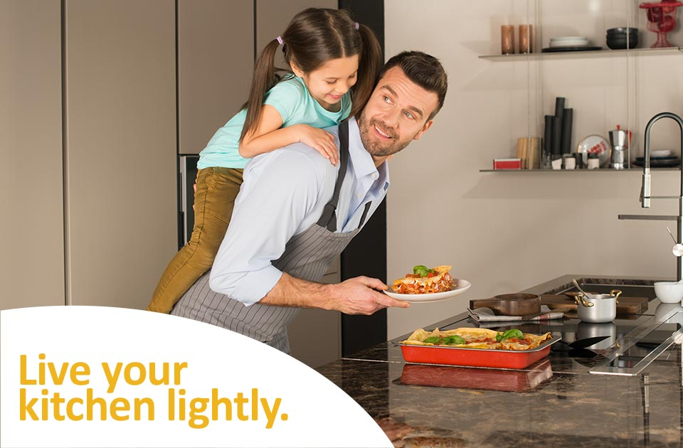 Live your kitchen lightly.