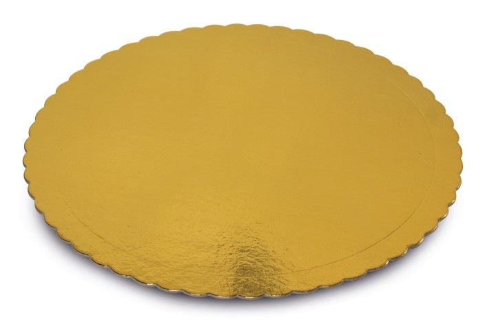 Golden cake board
