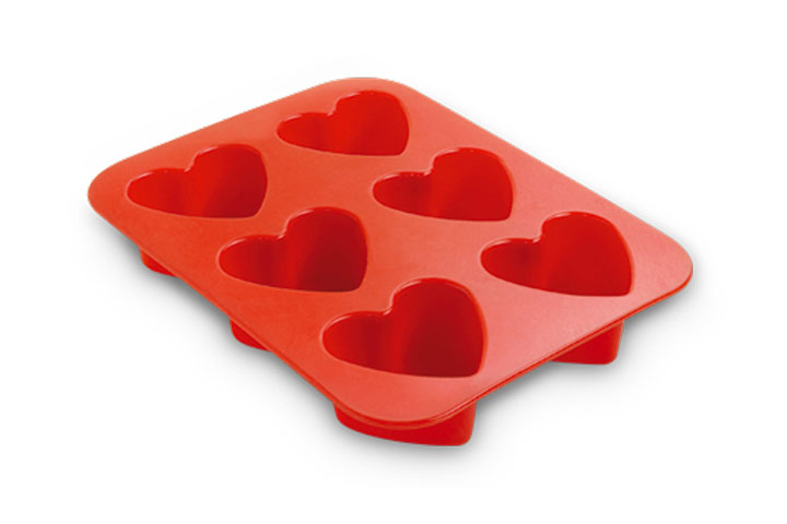 6 hearts baking pan