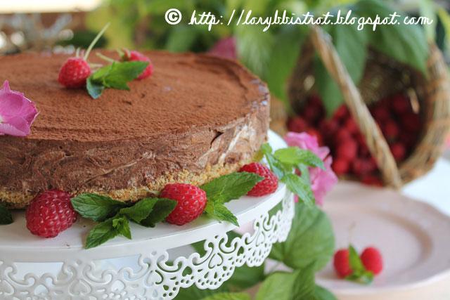 Torta fredda di Cioccolato e Lamponi