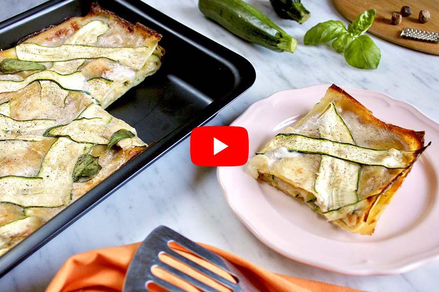 Lasagne blanches aux courgettes