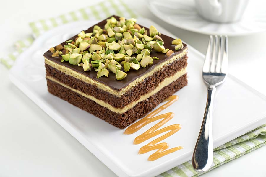 Torta di cioccolato e pistacchi