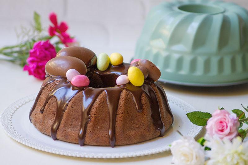 Bundt al cioccolato glassato